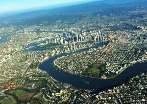My daughter took this from her flight deck as she flew out of Brisbane in September.