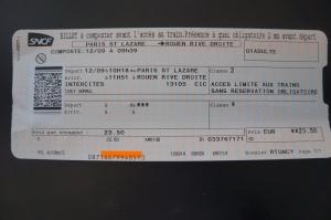 Train ticket Paris to Rouen
