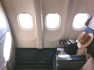 The leg room on my Premium Economy flight Sept 2014