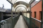 This is the pedestrian bridge leading to the second car park.
