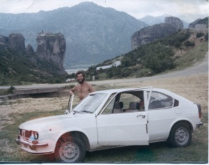 Driving the right-hand Alfa on rural Greek roads had its challenges.