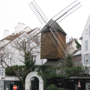 The windmill in Montmartre.