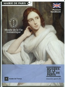 The museum guide with Georg Sand on the cover.